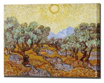 Vincent Van Gogh Olive Trees Canvas Art 1889 Wall Decor Canvas Print Canvas Interior Design Ready To Hang