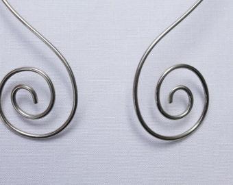 Spiral sterling silver torque