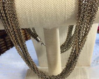 Silvertone Vintage Multistrand Chain Necklace