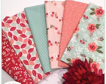 Sweet Prairie, 1/2 Yard Bundle, Riley Blake Fabric, Sedef Imer, Down Grapevine Lane, Floral, Quilting Fabric, Cotton Fabric,
