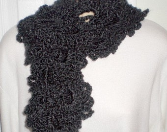 Scarves, Queen Anne Lace scarves, Crochet, Womens accessories, Girls accessories, Womens fashions, Girls fashions, Black