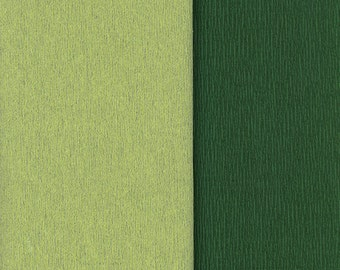 Gloria Doublette Double Sided Crepe Paper For Flower Making Made In Germany Apple And Dark Green  #3341