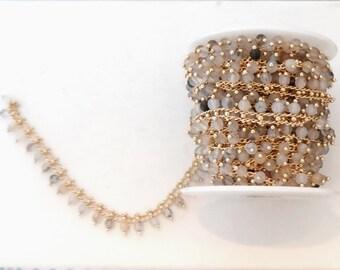 10cm chain agate stone beads