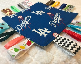 Dodgers baby Sensory Crinkle Tag Toy