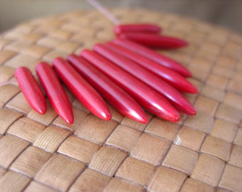 Red, White or Black, 10 piece set, Magnesite Graduated Spike Fan (20x5mm-39x5mm)