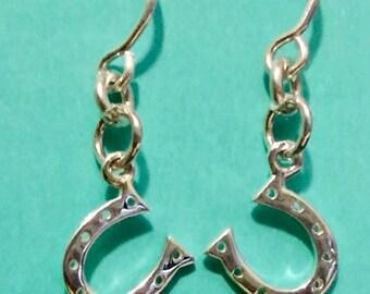 Sterling Horse Shoe Earrings