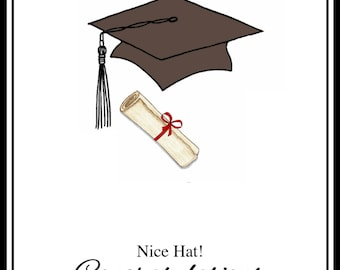 Personalised Graduation Card - Custom Graduation Cards with Graduates Name - Personalized Congratulations Card for Grad - High School