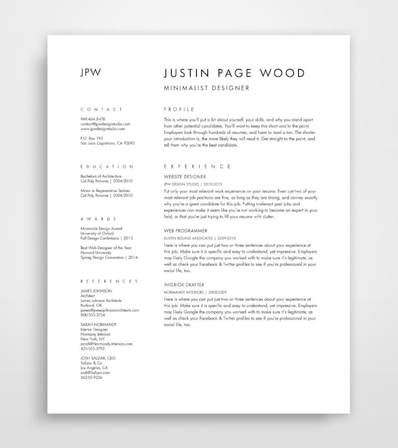cover letter for a cv template