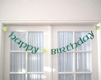 March Birthday.  St. Patrick's Day Birthday Banner.  St. Patty's Day.  Irish.  Decoration.  Irish Birthday.  5280 Bliss.