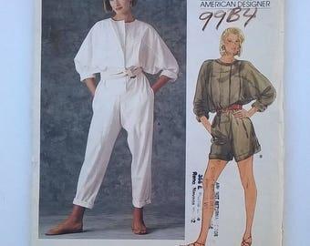 Vogue American Designer Carol Horn Pattern 1348 - Jumpsuit or Romper -  Size 6 - Vintage 1980s Uncut, Factory Folded Sewing Pattern