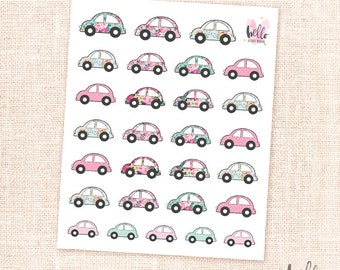 Car stickers - 28 cute planner stickers