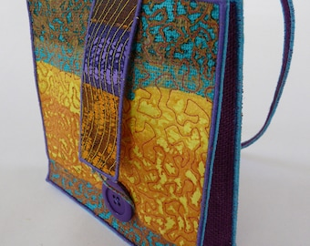 A Hand Bag from my latest collection of machine embroidered accessories