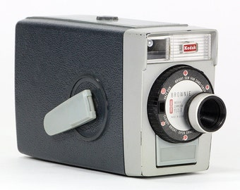Retro 1950's Kodak Brownie 8 Movie Camera – a must for any camera collector and perfect for display.