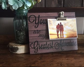 You Are My Greatest Adventure, Valentine's Day Gift, Couples Gift, Birthday Gift, Christmas Gift