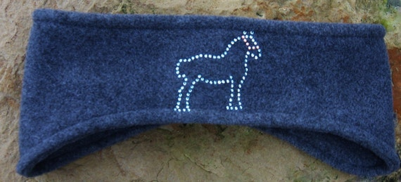 Western,  Draft Horse  Fleece Headband, Ear Warmer, Winter Wear, Womens Accessories, Skiing