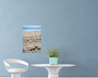 Beach House Decor Wall, Canvas Art Prints, Beach Bathroom Decor, Ocean Lover Gift, Blue Landscape Photography, Small Canvas Art