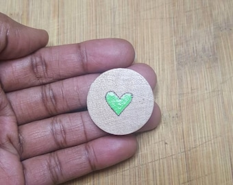 Custom Jewelry Show Your Love for Mental Health Awareness Wood Adjustable Ring Green