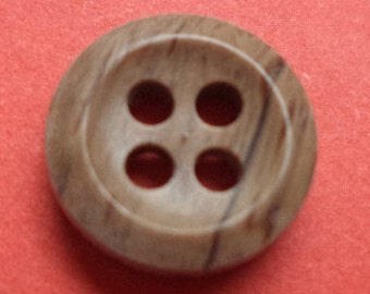10 small brown buttons 10mm (112) button