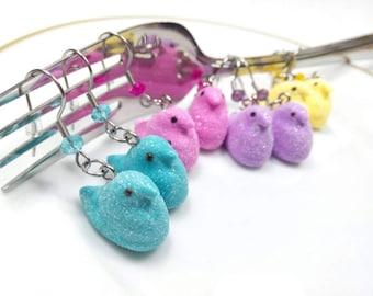 Easter Peeps Earrings, Easter Jewelry, Miniature Peeps, Easter Peeps Jewelry, Marshmallow Peeps