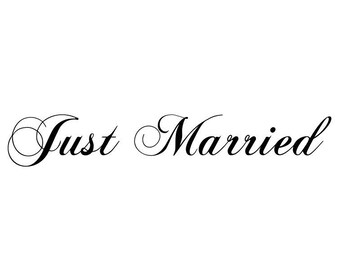 "Stickers ""Just Married 3 ""pour déco mariage"
