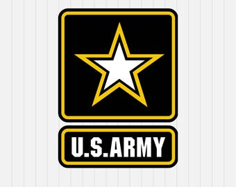 US Army Logo Svg- Military svg  - INSTANT DOWNLOAD - 1-Dxf, Eps, Pdf, Png, Svg - Cricut - Silhouette