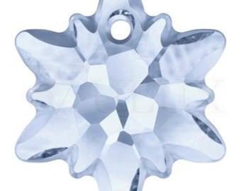 Wholesale Swarovski 6748G Edelweiss Pendant  14 mm Blue Shade