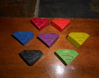 Superman Inspired Crayon Set of 7