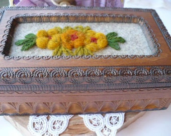 Gift For Her Wood Box, Vintage Jewelry Box, Moroccan Motif, Anniversary Gift