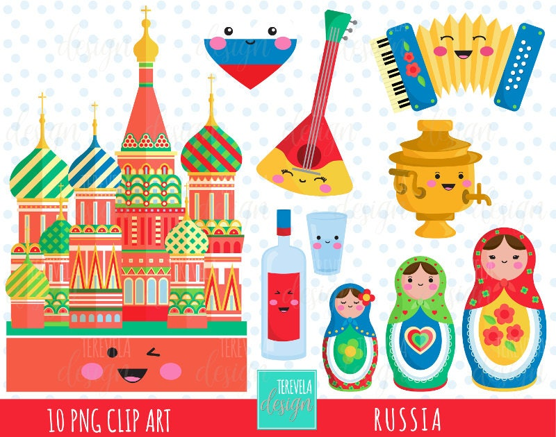 50 Sale Russia Clipart Matryoshka Moscow Commercial