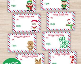 Christmas printable gift tags, exclusive gift tags, you print!