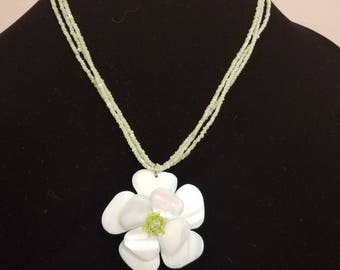 Light Green Hawaiian Flower Necklace
