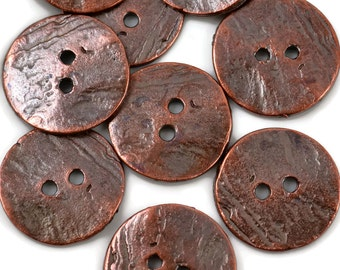 Mykonos Button - 20mm Bronze - Greek Cornflake Round Bronze Button