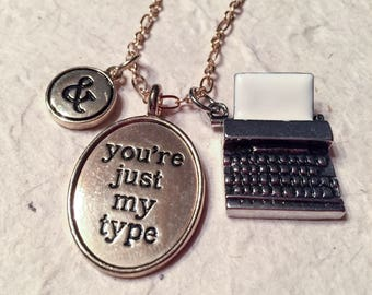 Just my type, typewriter, gifts for her, special gifts, secretary, type, for her, love, gifts for girlfriends