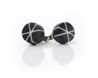 Zazou Stud Earrings in Jet Black