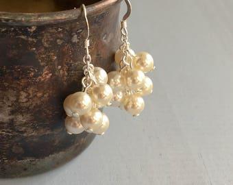 Swarovski Pearl Dangle Earrings