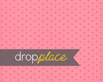 Backdrop Valentine's Day Drops Hot Pink Polka Dots Light Pink Grunge Texture Photo Background (Multiple Sizes Available)