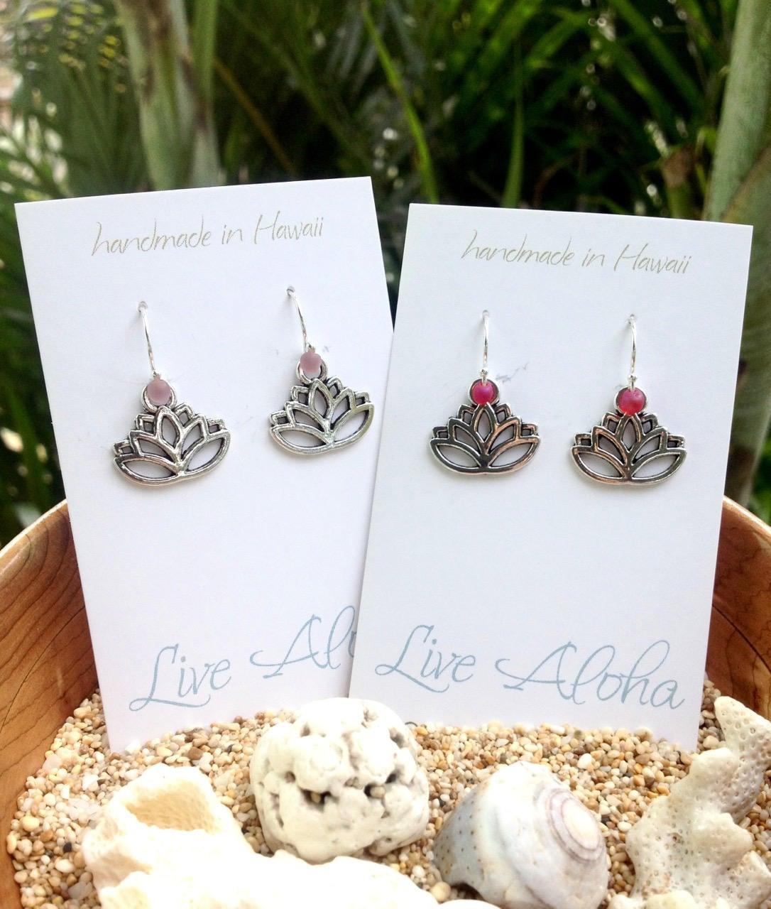 lotus earrings sterling silver yoga earrings group gift