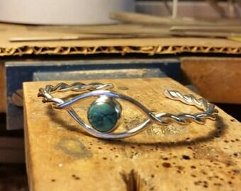 Denim Lapis Sterling Silver Cuff Bracelet