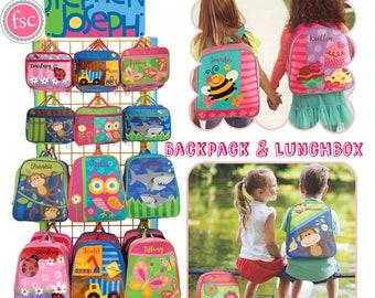 Stephen Joseph sac à dos, enfant en bas âge boîte à lunch, sac à dos maternelle, préscolaire boîte à lunch, enfants sac à dos, sac à dos Go-Go