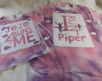 I run 4 buddy or runner personalized color burst tee shirt and baby onesie