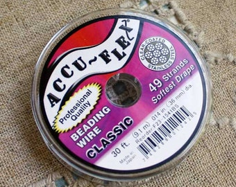 Accu-Flex Beading Wire 49 Strand  0.012in 30 ft  Clear