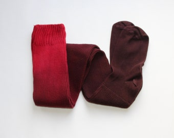 Ombre Cotton Thigh High Socks, hand dyed clothing