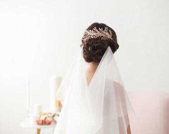 Gold Bridal Hair Accessories, Gold Wedding Hair Piece, Gold Hair Vine, Babies breath Hair Piece, Crystal Beaded Headpiece, Gold Hair Comb