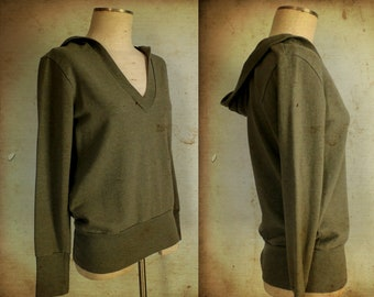 FINAL SALE --- Vintage Sage Cotton Pullover Hoodie (xs/small)