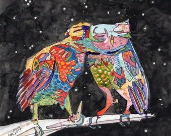 Magic Owls (ORIGINAL Painting)