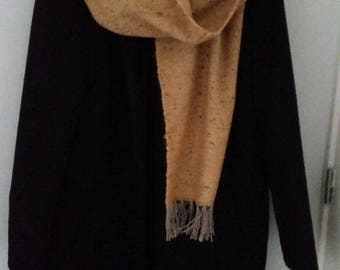 Woven yellow scarf
