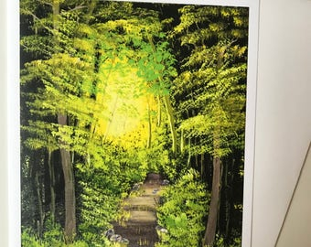Enchanted Forest Blank Greeting card with Envelope ~~ Don Mathis Artist