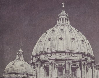 St. Peter's Basilica Dome Black & White Photograph | Wall Art | Home Decor | Affordable Art | Architecture | Travel | Rome | Italy | Vatica