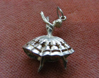 F) Vintage Sterling Silver Charm Dancer with moving legs