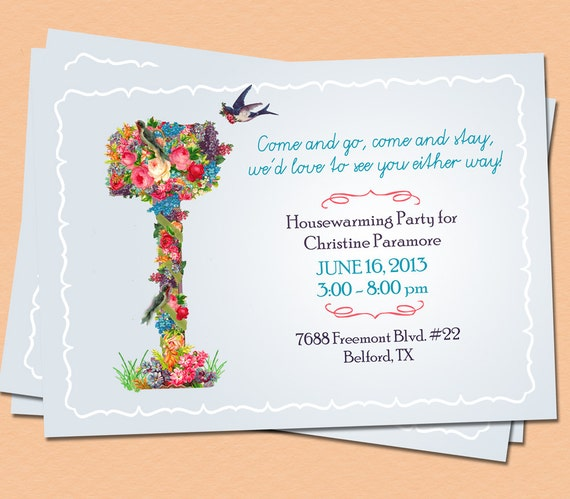 DIY Housewarming Invitation Custom Printable Moving